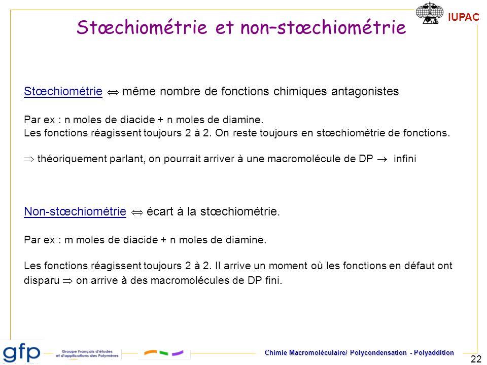 Stœchiométrie et non–stœchiométrie