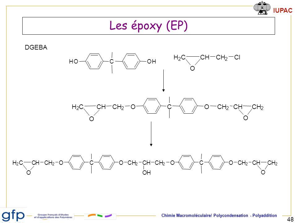 Les époxy (EP) DGEBA C H O H 2 C l O C O H 2 C O H 2
