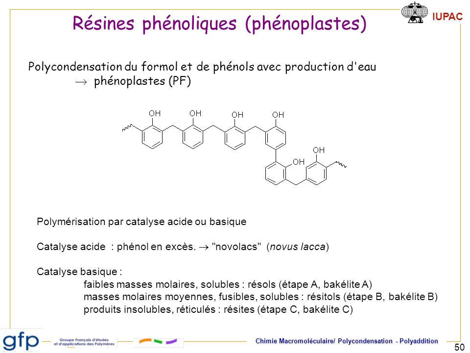 Résines phénoliques (phénoplastes)