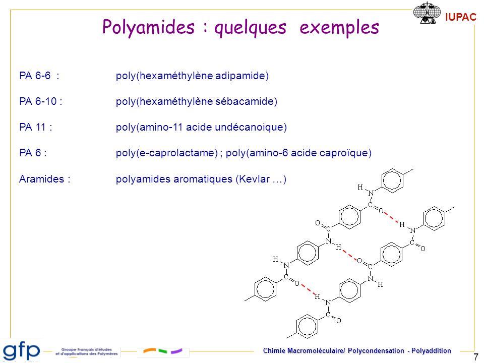 Polyamides : quelques exemples