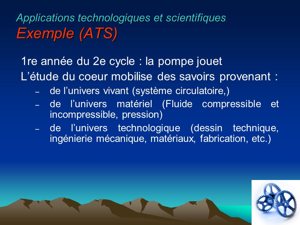 Applications technologiques et scientifiques Exemple (ATS)