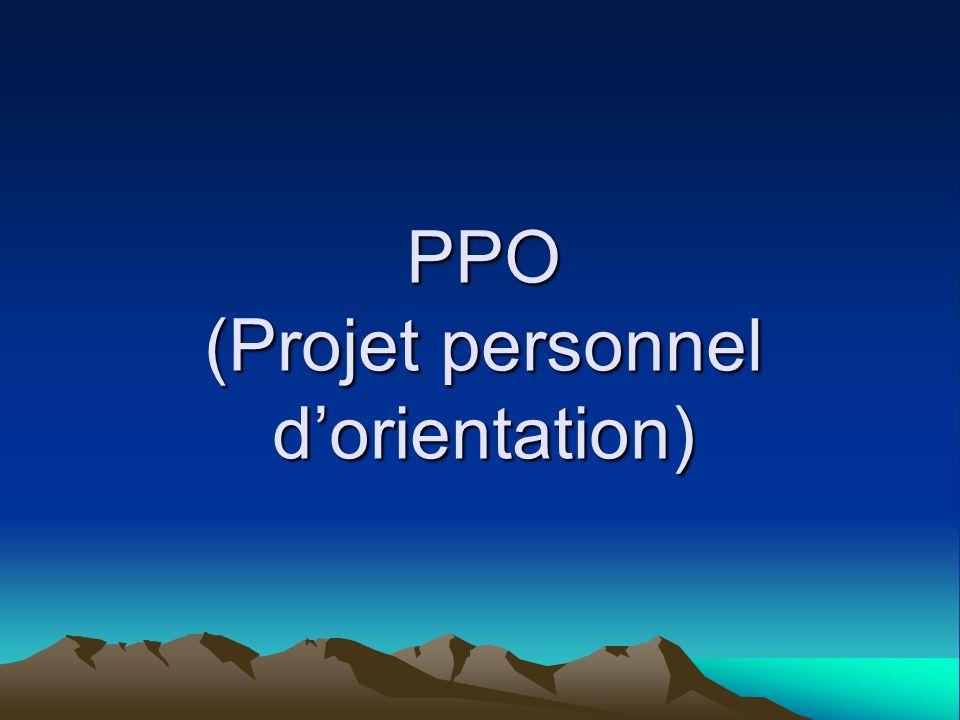 PPO (Projet personnel d'orientation)