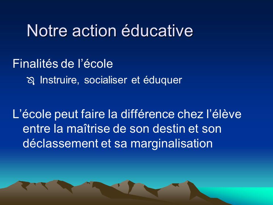 Notre action éducative