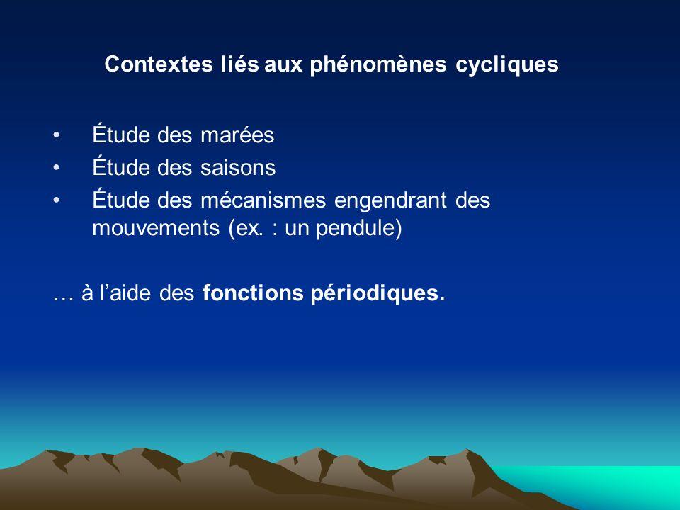 Contextes liés aux phénomènes cycliques