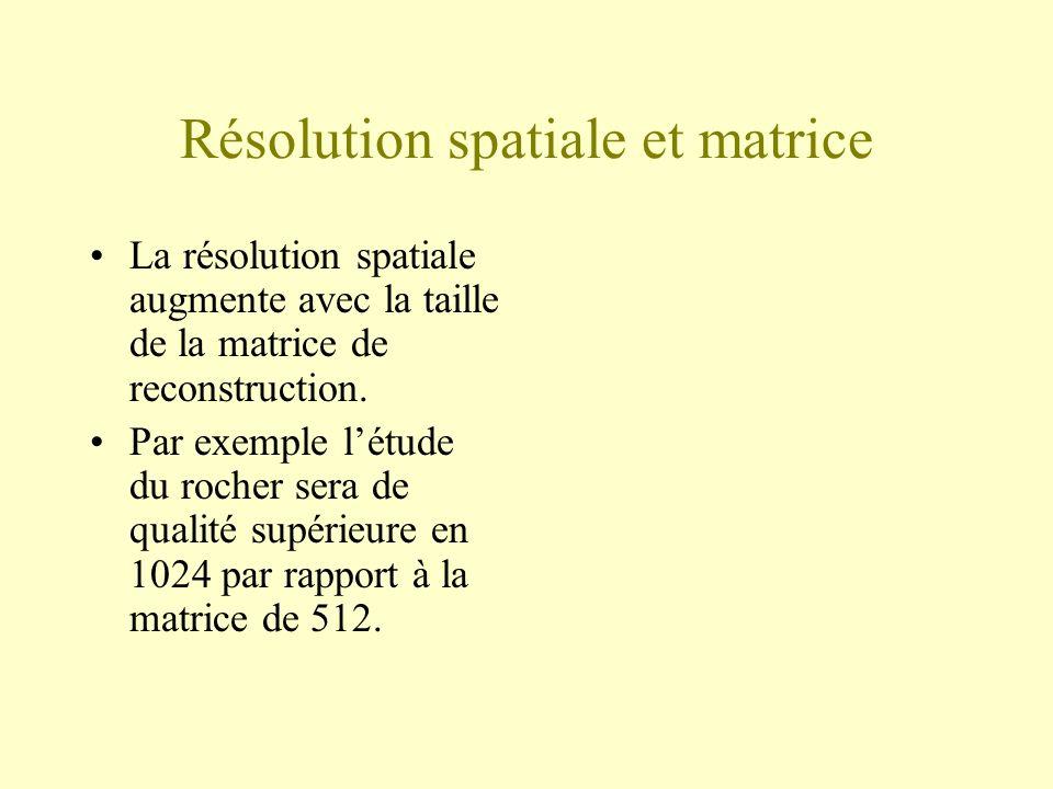 Résolution spatiale et matrice