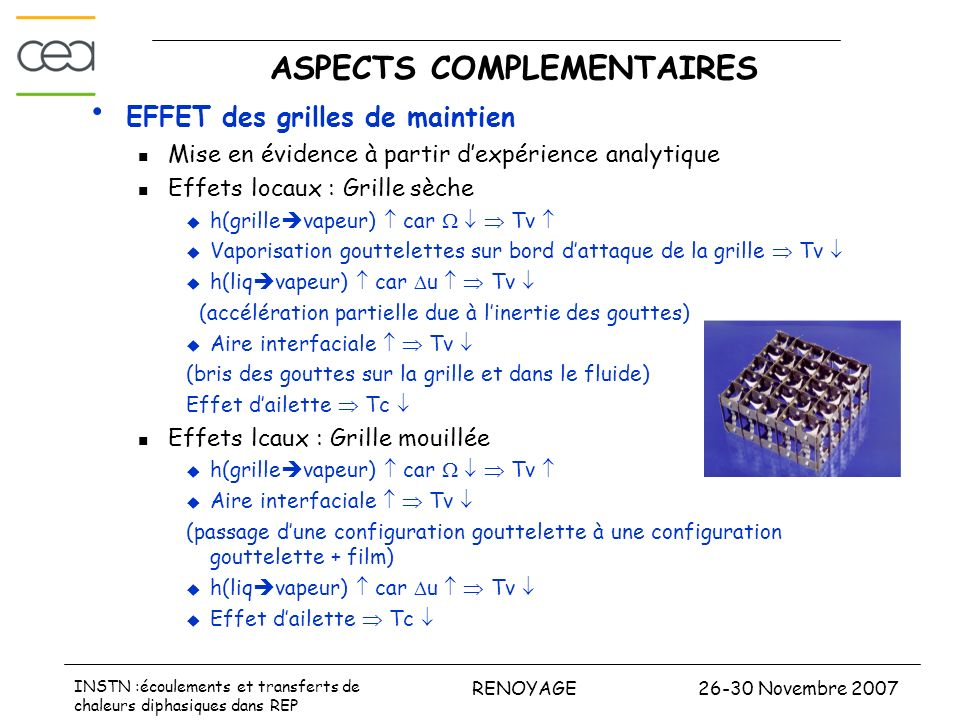 ASPECTS COMPLEMENTAIRES