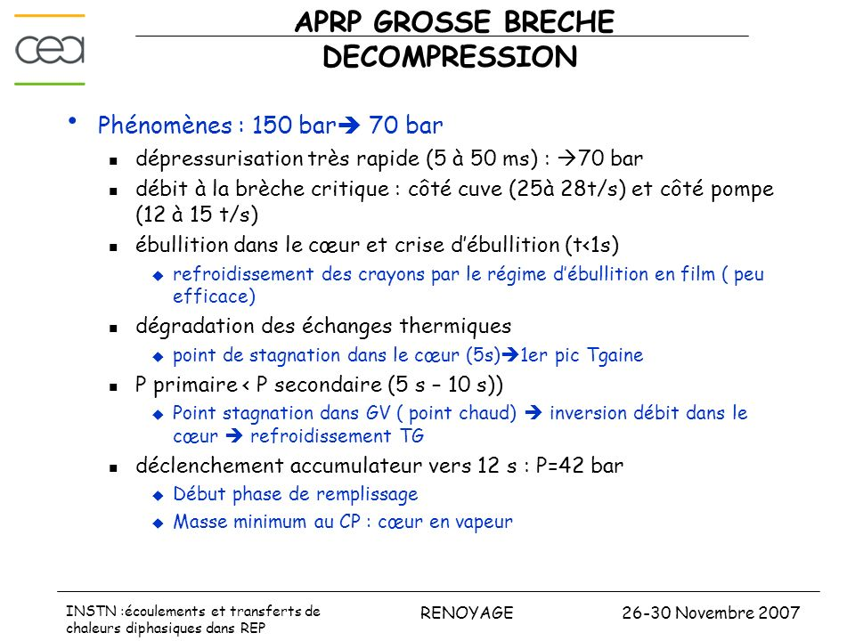 APRP GROSSE BRECHE DECOMPRESSION