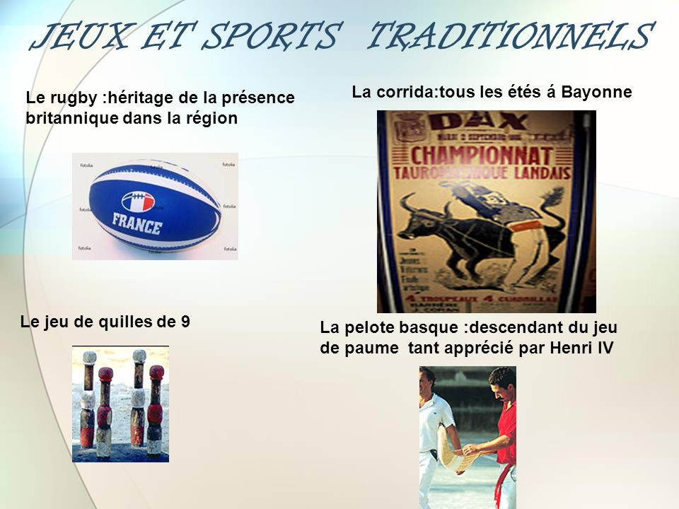 JEUX ET SPORTS TRADITIONNELS