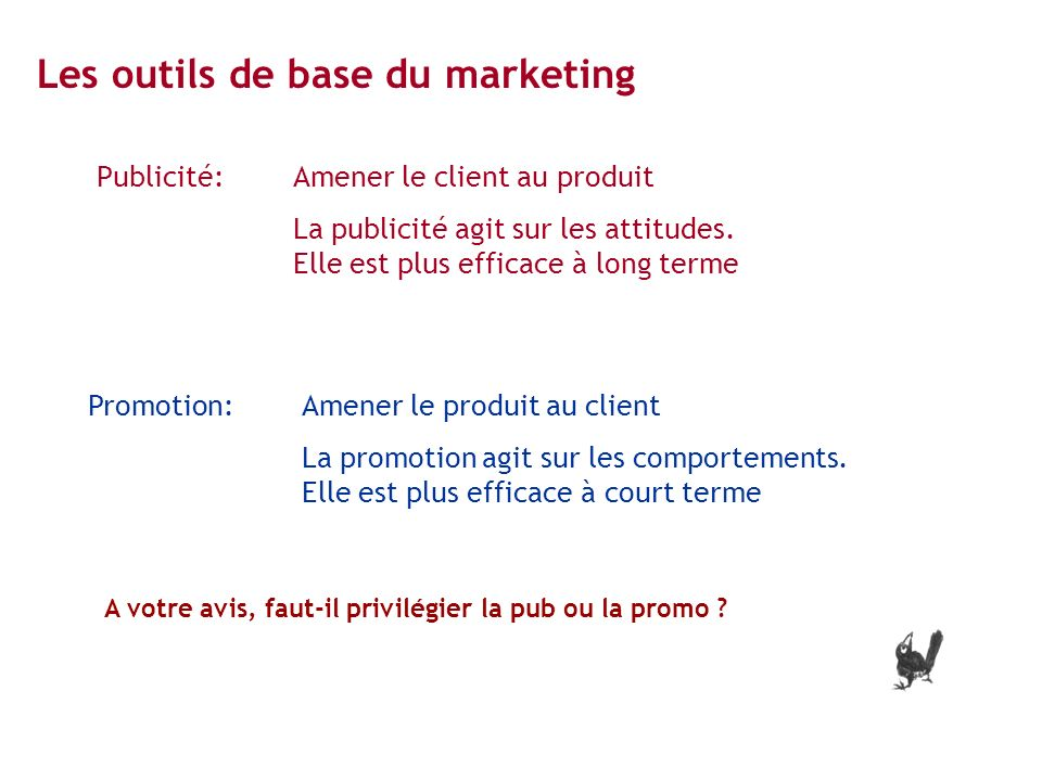 Les outils de base du marketing