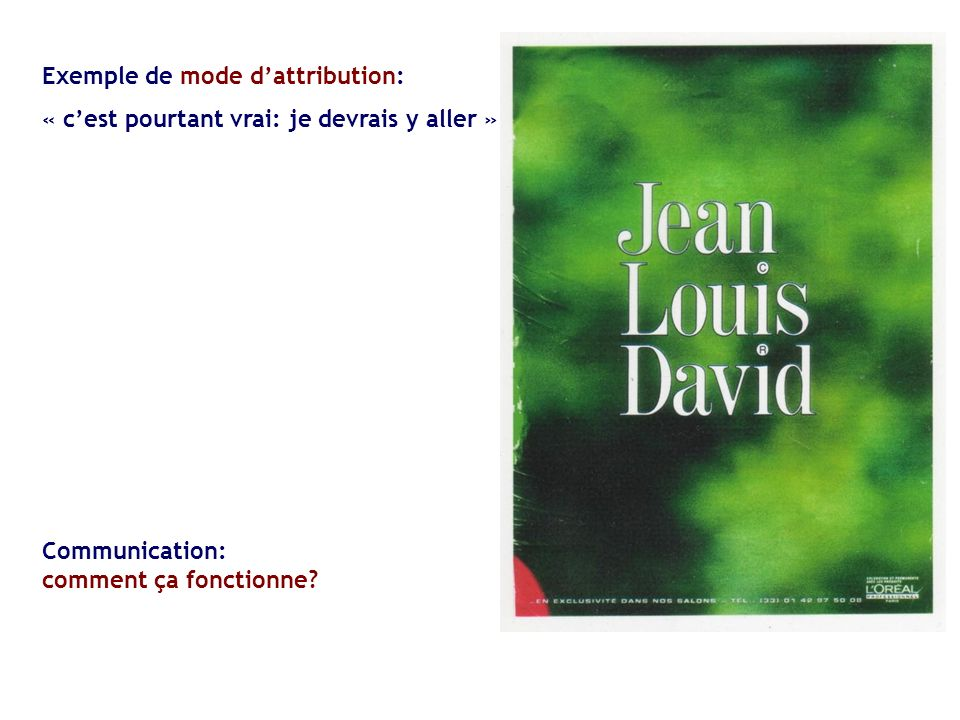 Exemple de mode d'attribution: