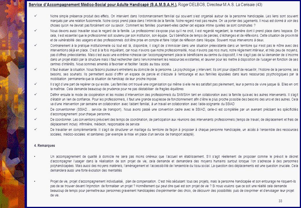Service d'Accompagnement Médico-Social pour Adulte Handicapé (S. A. M
