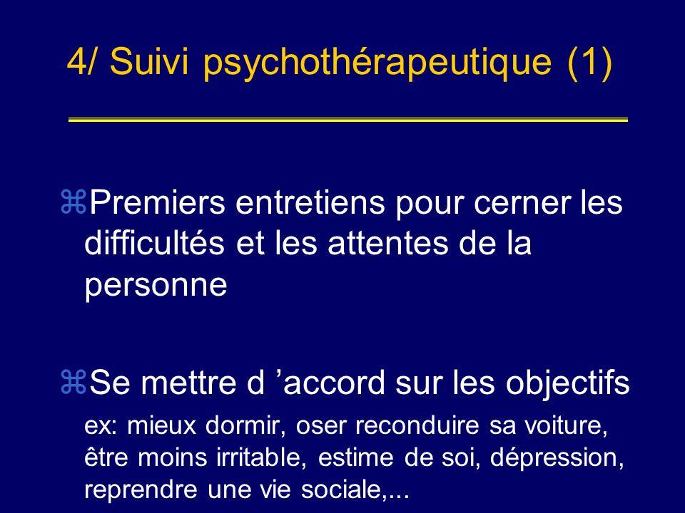 4/ Suivi psychothérapeutique (1)
