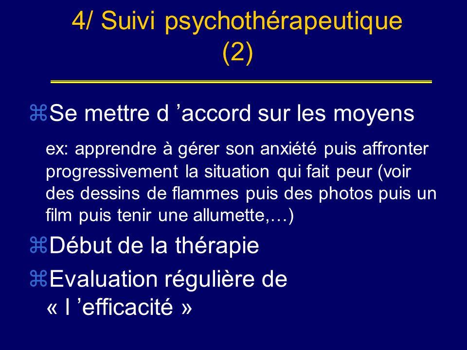 4/ Suivi psychothérapeutique (2)