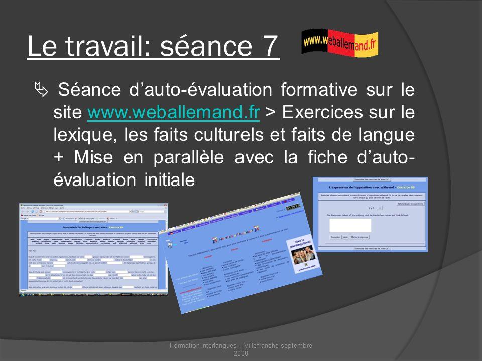 Formation Interlangues - Villefranche septembre 2008