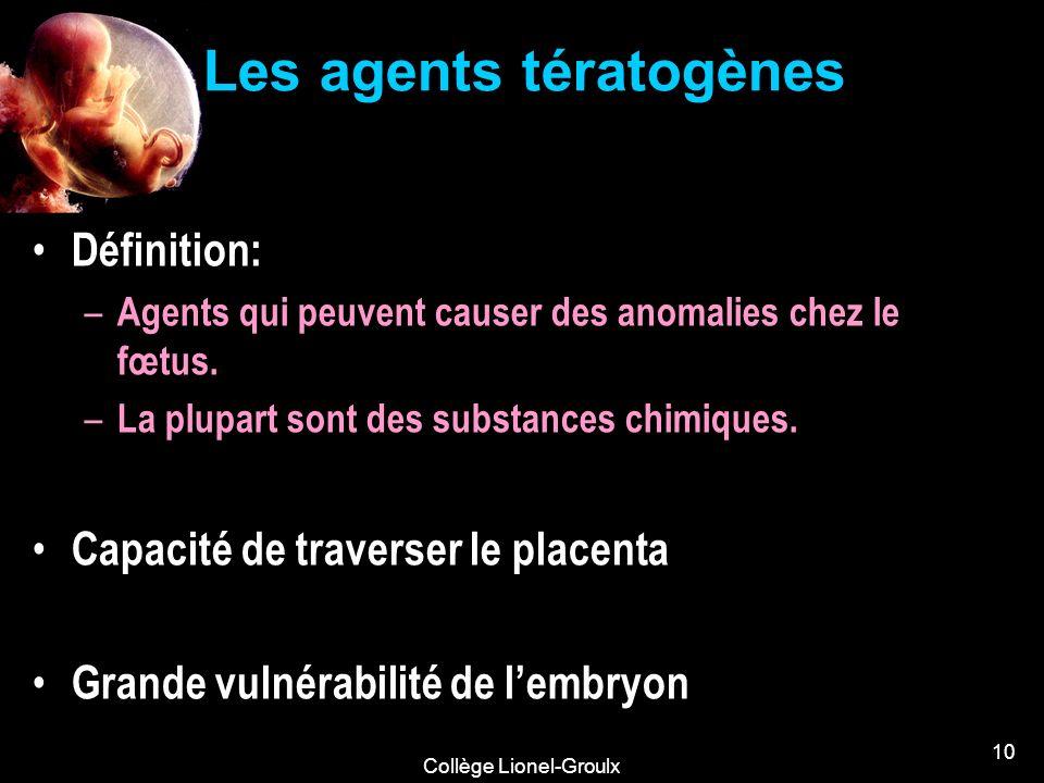 Les agents tératogènes