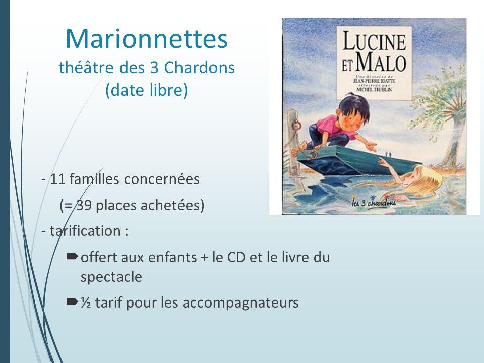 Marionnettes théâtre des 3 Chardons (date libre)