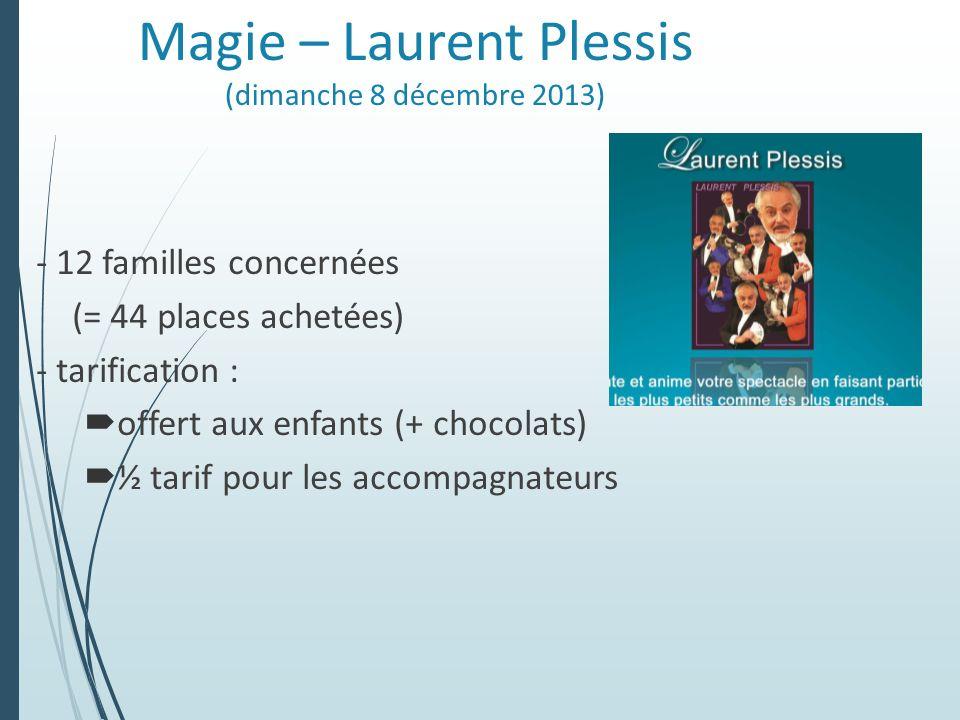 Magie – Laurent Plessis (dimanche 8 décembre 2013)