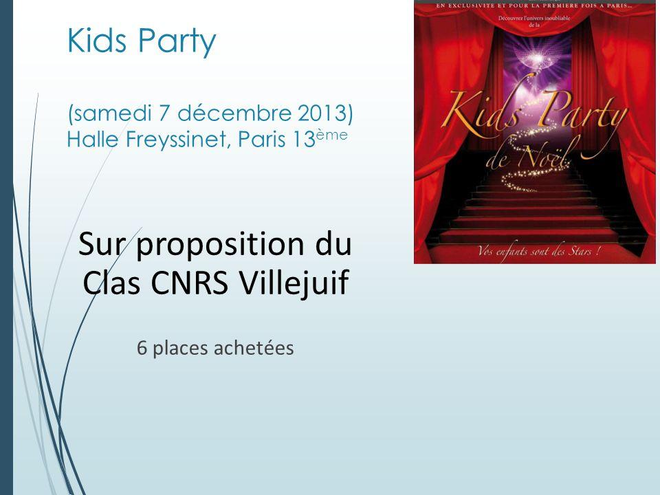 Kids Party (samedi 7 décembre 2013) Halle Freyssinet, Paris 13ème
