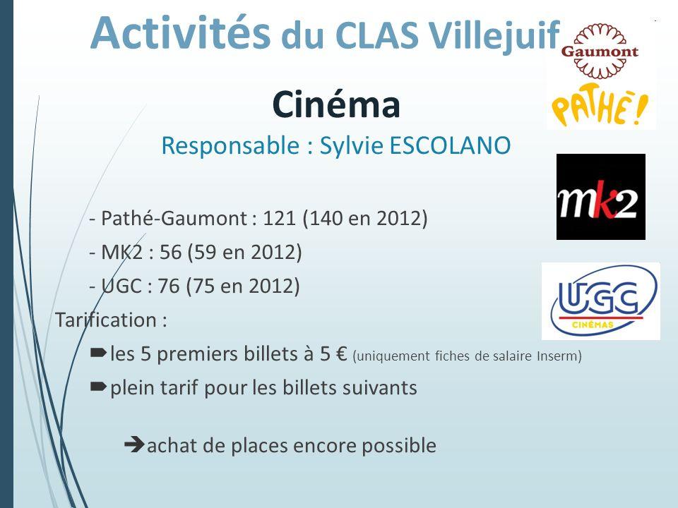Cinéma Responsable : Sylvie ESCOLANO