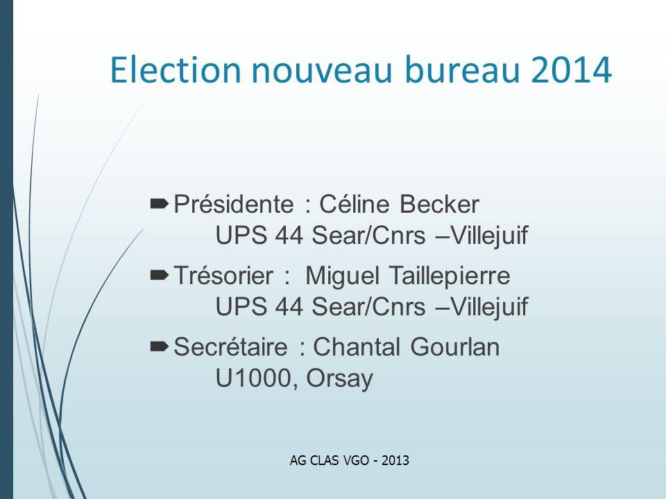 Election nouveau bureau 2014