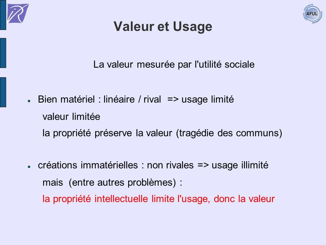 La valeur mesurée par l utilité sociale