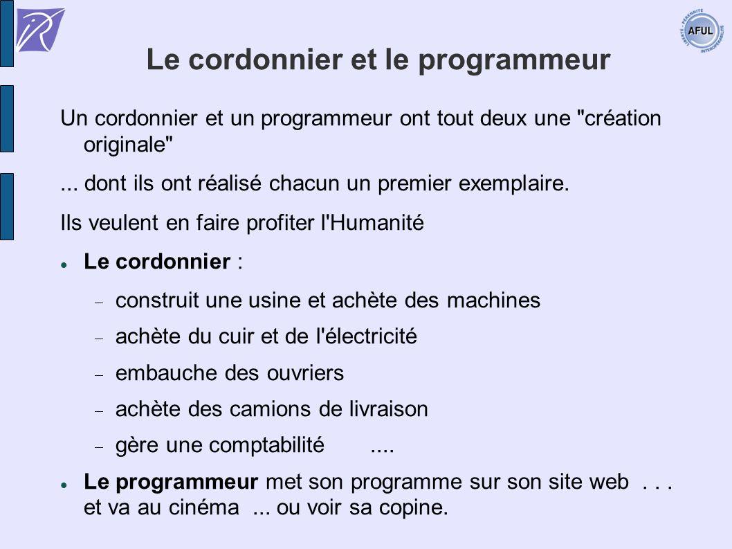 Le cordonnier et le programmeur