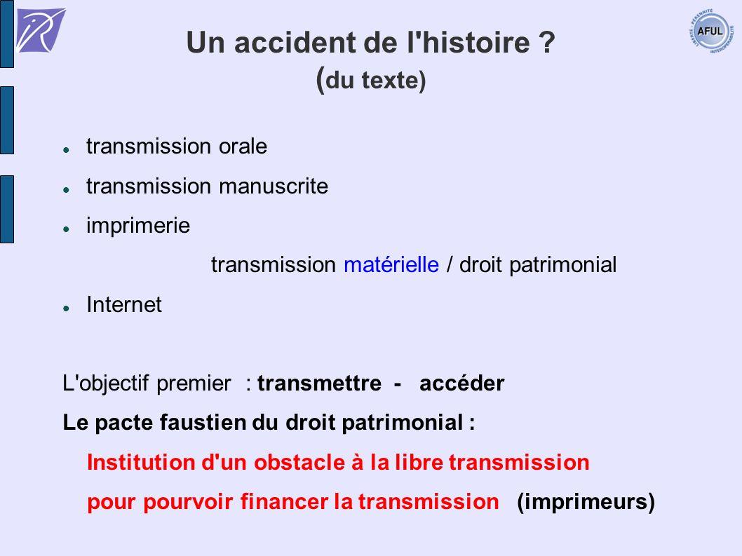 Un accident de l histoire (du texte)