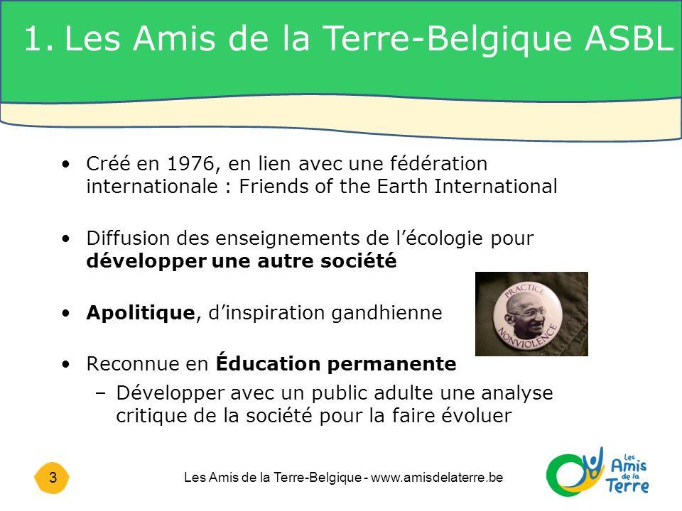 1. Les Amis de la Terre-Belgique ASBL