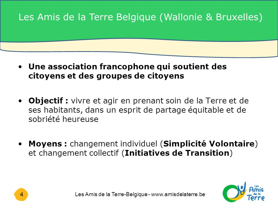 Les Amis de la Terre Belgique (Wallonie & Bruxelles)