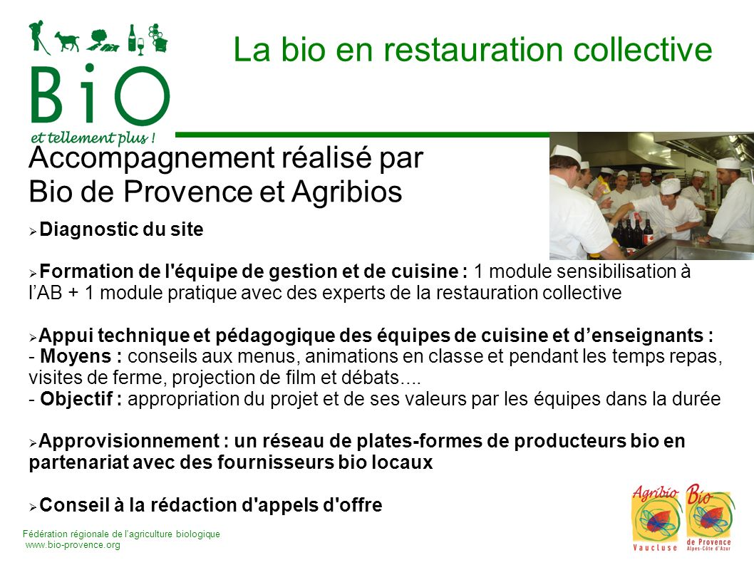 La bio en restauration collective