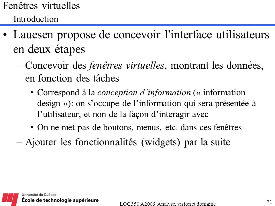 Fenêtres virtuelles Introduction
