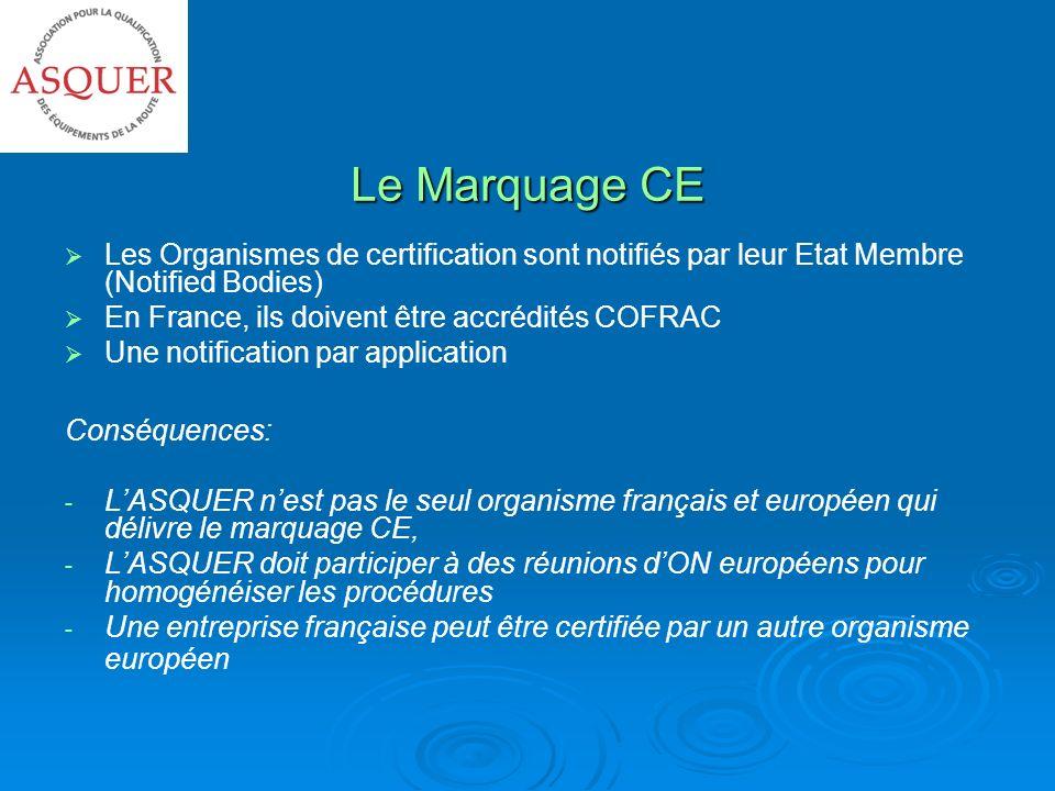 Le Marquage CE Les Organismes de certification sont notifiés par leur Etat Membre (Notified Bodies)