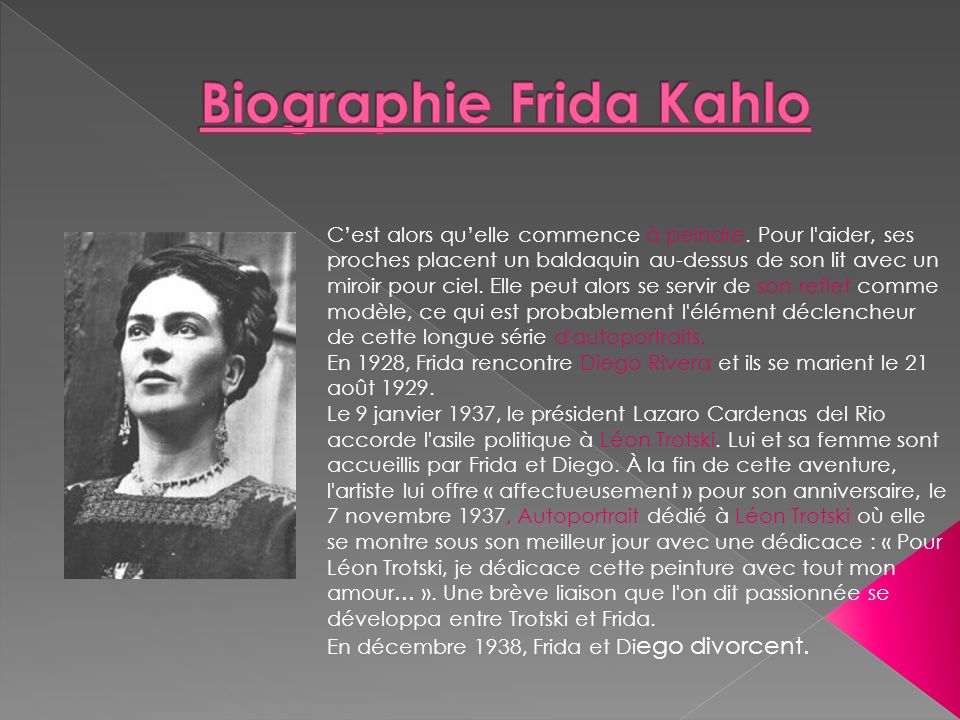 Biographie Frida Kahlo