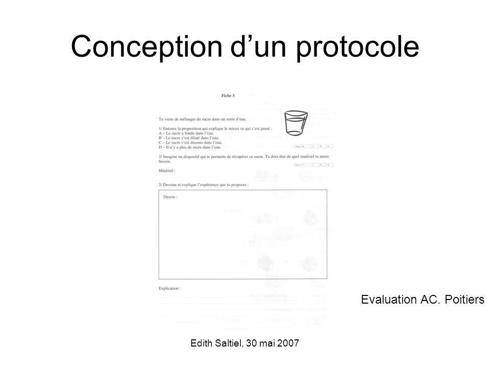 Conception d'un protocole