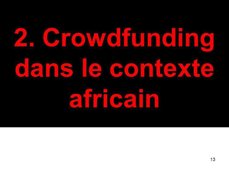 2. Crowdfunding dans le contexte africain