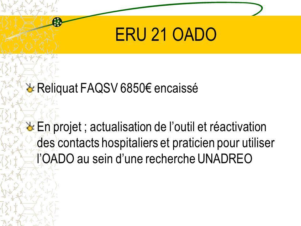ERU 21 OADO Reliquat FAQSV 6850€ encaissé