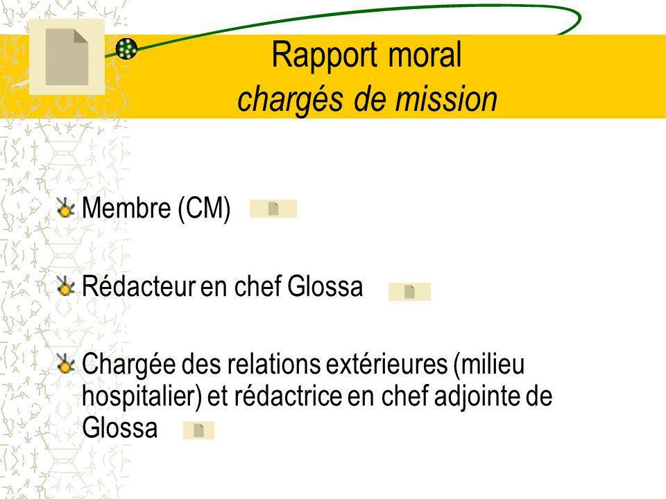 Rapport moral chargés de mission