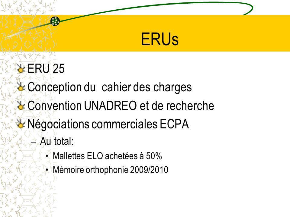 ERUs ERU 25 Conception du cahier des charges