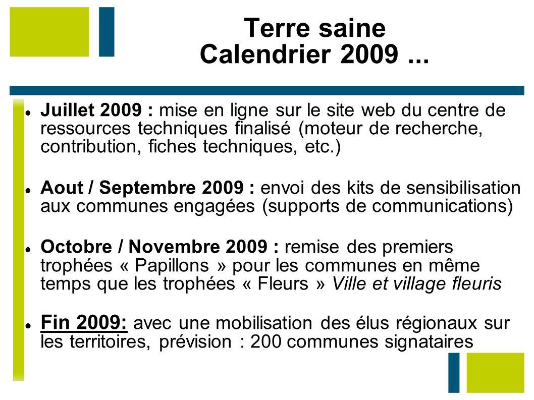 Terre saine Calendrier 2009 ...