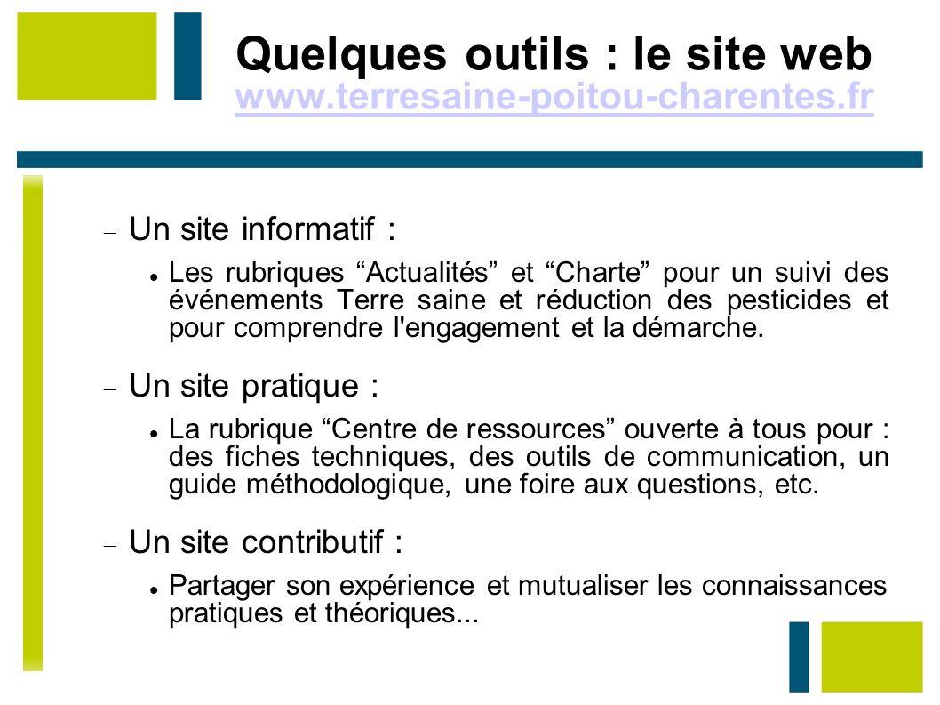 Quelques outils : le site web www.terresaine-poitou-charentes.fr Un site informatif :