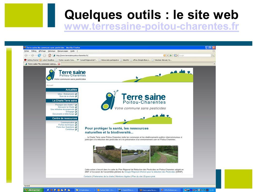 Quelques outils : le site web www.terresaine-poitou-charentes.fr