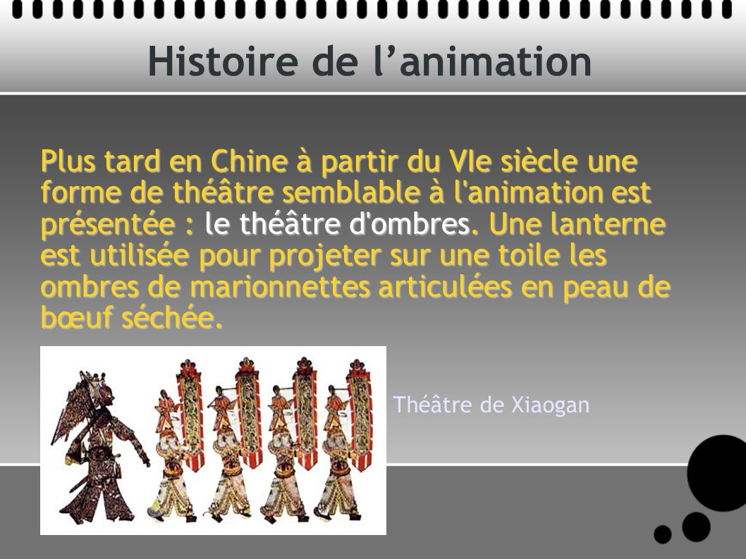Histoire de l'animation
