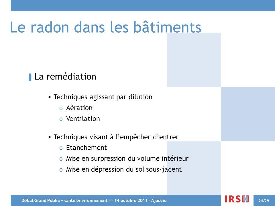 Le radon dans les bâtiments