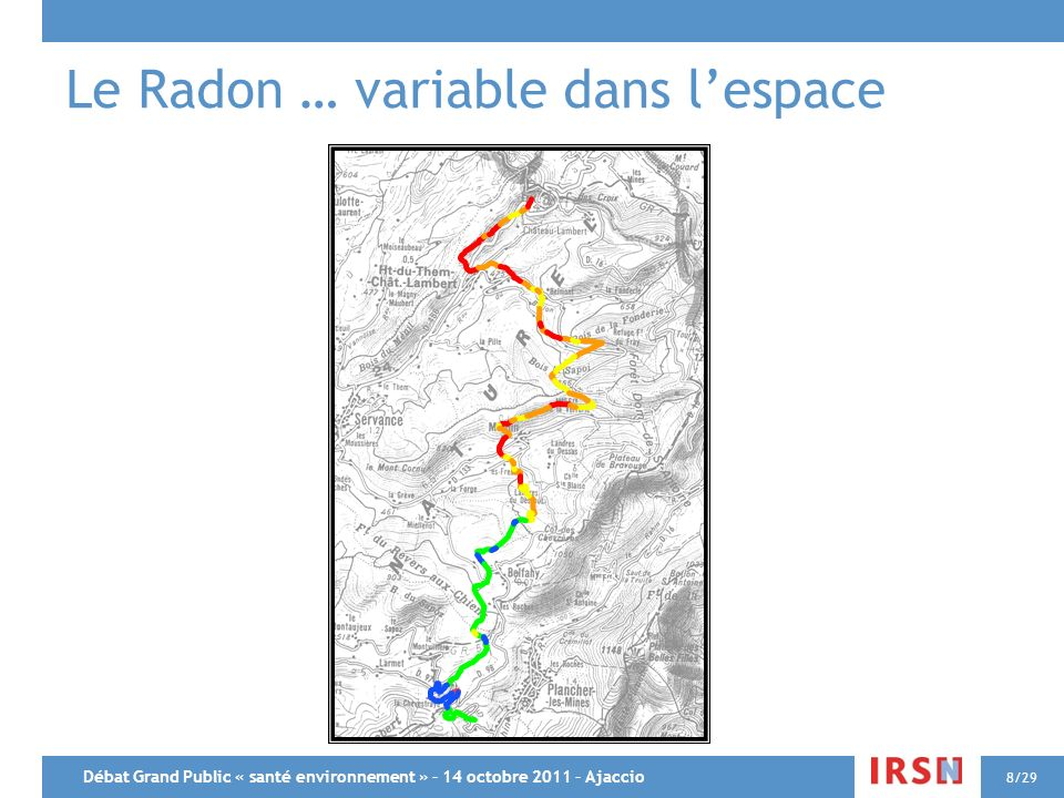 Le Radon … variable dans l'espace