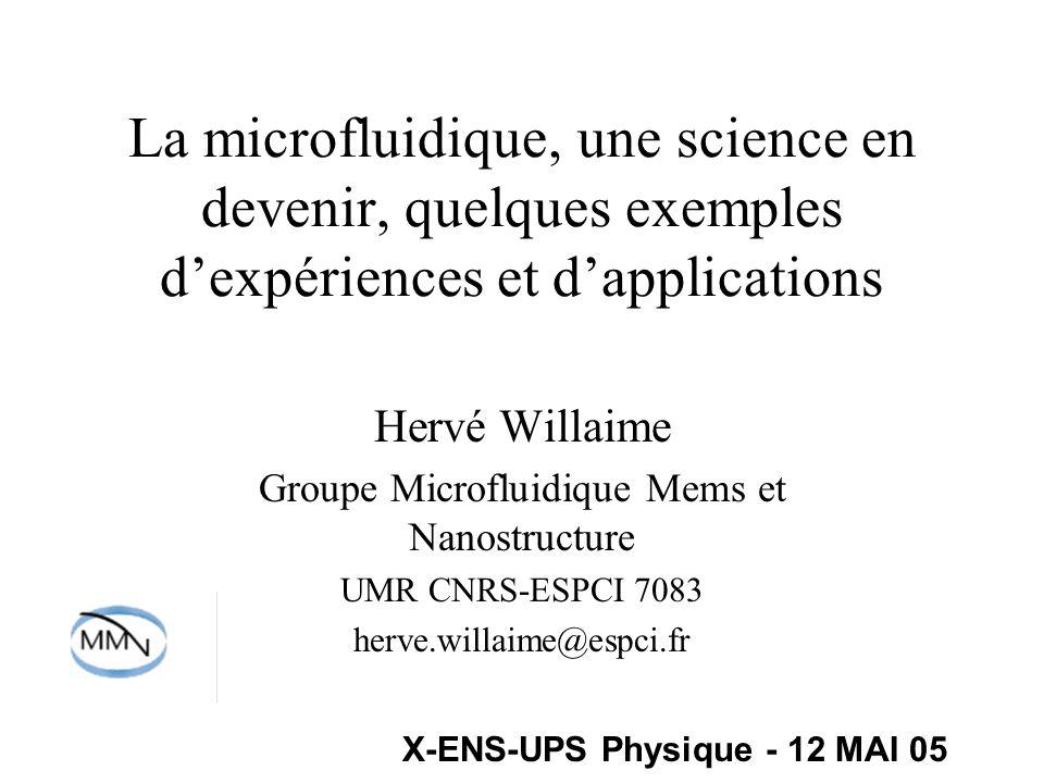 Groupe Microfluidique Mems et Nanostructure