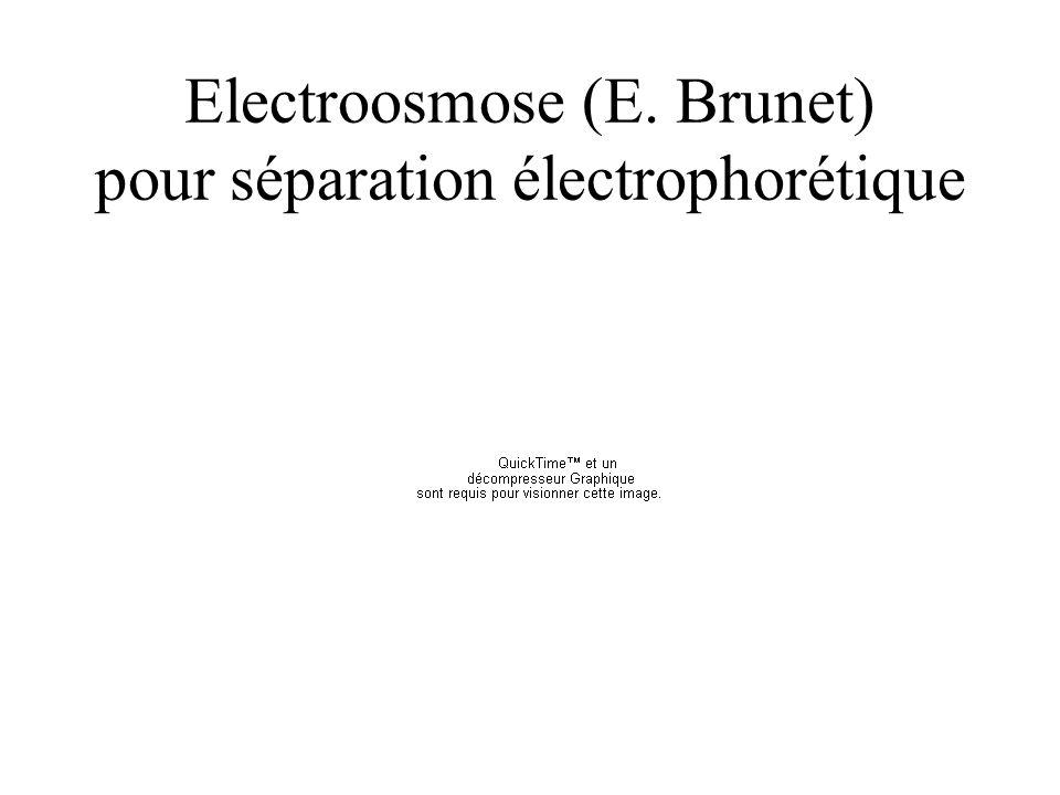 Electroosmose (E. Brunet) pour séparation électrophorétique