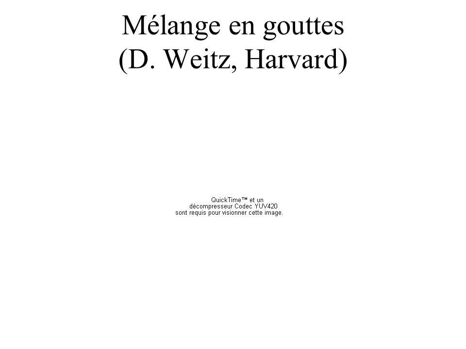 Mélange en gouttes (D. Weitz, Harvard)