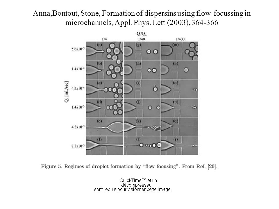 Anna,Bontout, Stone, Formation of dispersins using flow-focussing in microchannels, Appl.