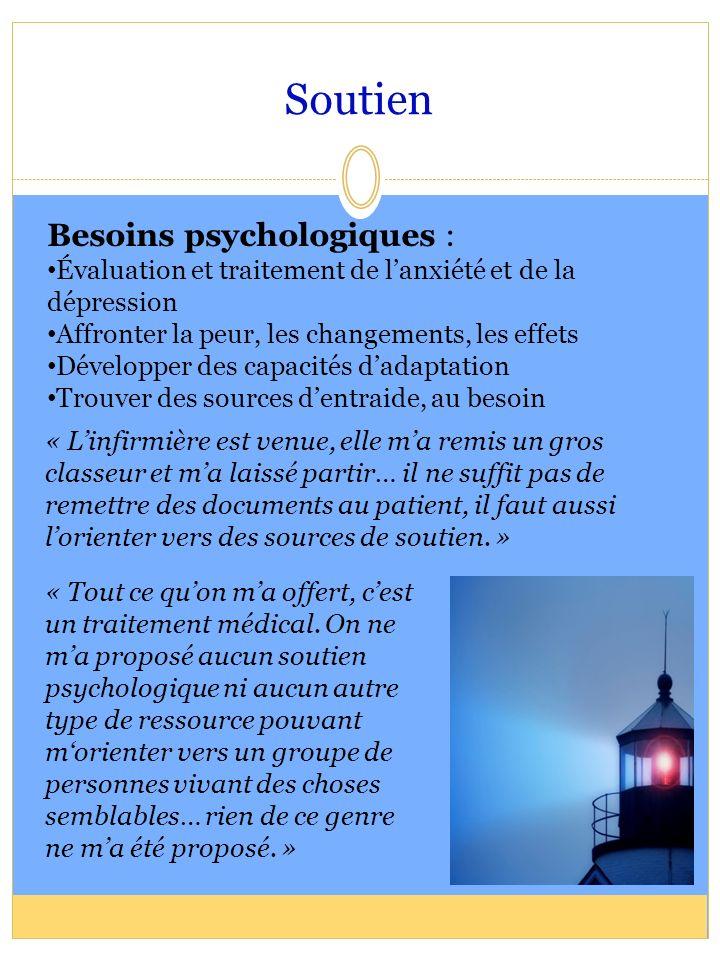 Soutien Besoins psychologiques :