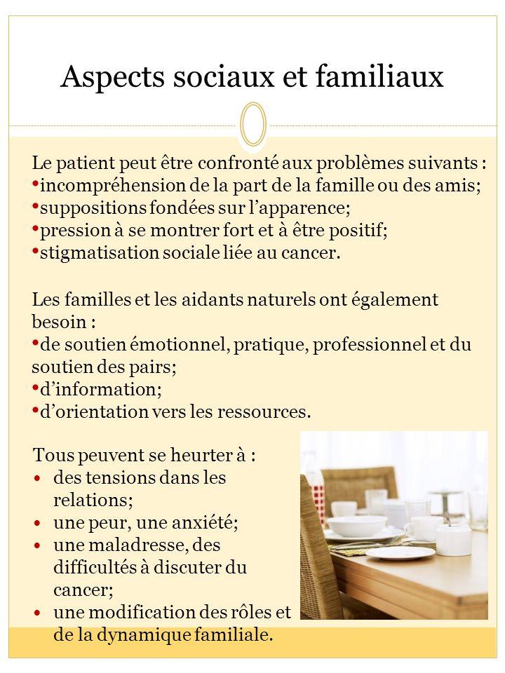 Aspects sociaux et familiaux